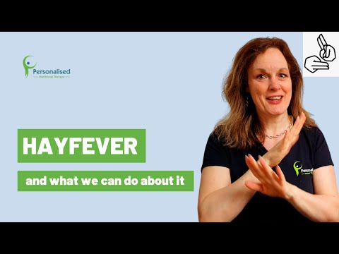 How to support your hayfever with nutrition (BSL)