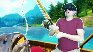 MY SUMMER FISHING TRIP! FISHING FOR GIANT LAKE MONSTERS IN VR! - Catch & Release HTC VIVE Gameplay