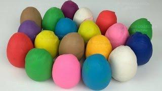 Play Doh Surprise Eggs!!! disney planes hello kitty disney frozen princess doraemon dora donald duck