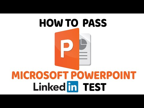 How To Pass PowerPoint LinkedIn Assessment Test - YouTube
