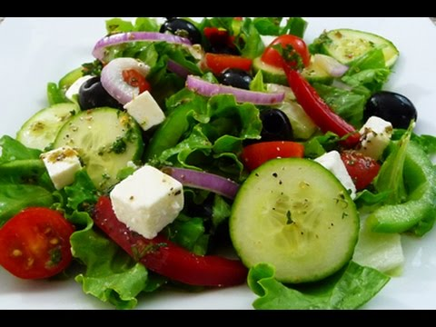 Video Easy Greek Salad recipe, super healthy and delicious, how to cook.