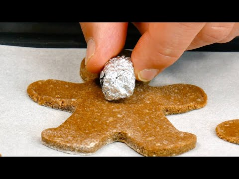 Put Tin Foil Balls On Dough & Pop It In The Oven! | 6 Super Original Christmas Cookie Recipes