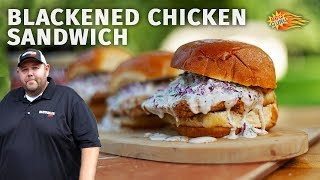 Let's Talk Outdoor Cooking with Heath Riles: Blackened Chicken Sandwich