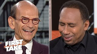 Paul Finebaum tells Stephen A. he needs a pacifier like Dabo Swinney | First Take