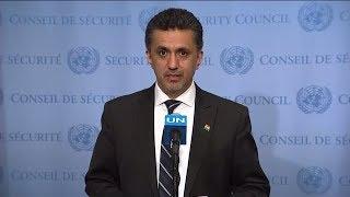 SC President, Sacha Sergio Llorentty Solíz (Bolivia) on South Sudan - SC Media Stakeout