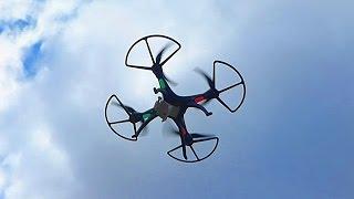 Квадрокоптер HuanQi 899b. Летающий Дрон. Квадрокоптер Видео. Радиоуправляемый квадрокоптер