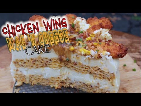 Chicken Wing Mac 'n Cheese Cake
