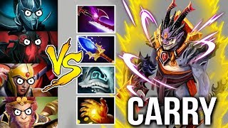 Imba Scepter Lion Mid Solo vs Team Carry Epic Gameplay by Mski.nb WTF Dota 2