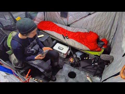 Early Ice Camping For Walleye In a Small Tent