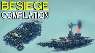 ►Besiege Compilation - Random Creations, A Bit Of Everything