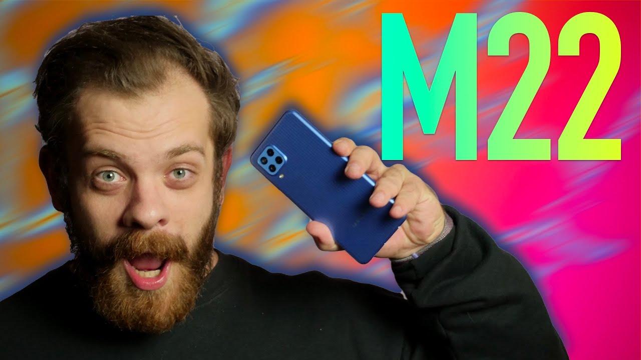 Samsung Galaxy M22 2021 M225F 4/128GB Black (SM-M225FZKGSEK) video preview