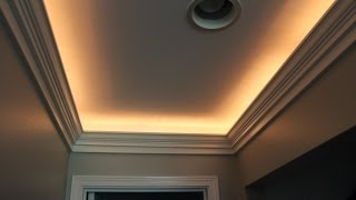 Crown Molding With Indirect Lighting Installation