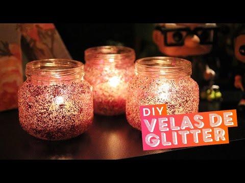 Potes de Glitter para velas