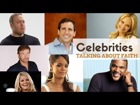 Celebrity Christians Talking about their Faith, God and Jesus.
