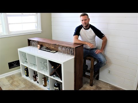 IKEA HACK: The Easy DIY Bar