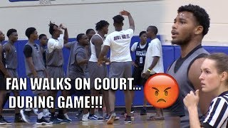 The MOST HEATED Game of Fall League!! Fan STORMS ON COURT! West Oaks vs Olympia
