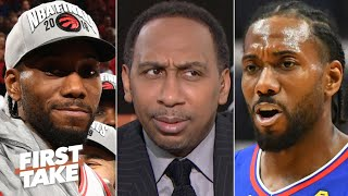 Stephen A. is off the Lakers' bandwagon: https://www.youtube.com/watch?v=gvwNu0v9JJQ Stephen A. Smith and Max Kellerman debate whether Kawhi Leonard would have a better title shot with the Toronto Raptors or the LA Clippers.  #FirstTake #NBA ✔ Subscribe to ESPN+ https://plus.espn.com/ ✔ Get the ESPN App: http://www.espn.com/espn/apps/espn ✔ Subscribe to ESPN on YouTube: http://es.pn/SUBSCRIBEtoYOUTUBE ✔ Subscribe to ESPN FC on YouTube: http://bit.ly/SUBSCRIBEtoESPNFC ✔ Subscribe to NBA on ESPN on YouTube: http://bit.ly/SUBSCRIBEtoNBAonESPN ✔ Watch ESPN on YouTube TV: http://es.pn/YouTubeTV  Exclusive interviews with Rachel Nichols https://urlzs.com/jNURe Stephen A. Smith on ESPN https://urlzs.com/W19Tz  ESPN on Social Media: ► Follow on Twitter: http://www.twitter.com/espn ► Like on Facebook: http://www.facebook.com/espn ► Follow on Instagram: www.instagram.com/f/espn  Visit ESPN on YouTube to get up-to-the-minute sports news coverage, scores, highlights and commentary for NFL, NHL, MLB, NBA, College Football, NCAA Basketball, soccer and more.   More on ESPN.com: https://www.espn.com