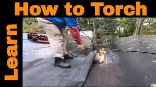 Learning How To Use A Torch For The First Time   Modified Bitumen Torch Down Rubber