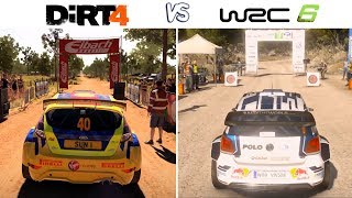 DiRT 4 vs WRC 6 - Gameplay Comparasion (HD) [1080p60FPS]