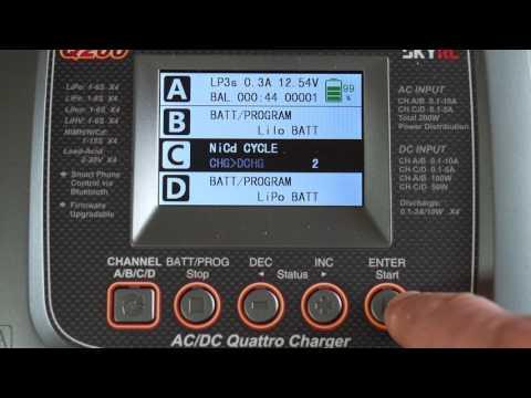 SKYRC Q200 – 4fach Modellbau Ladegerät für fast alle Akkus