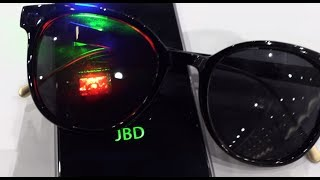 microLED, 5000ppi, brightest display in the world (1 million nits) by Jade Bird Display (JBD)