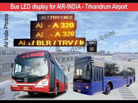 Coach Guidance Board LED Railways