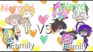 Normal Family Vs Weird Family || Gacha Life (Animation?)