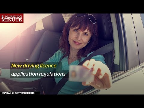 New driving licence application regulations