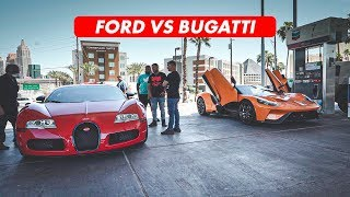 FORD GT CANT HANDLE 1000HP BUGATTI VEYRON