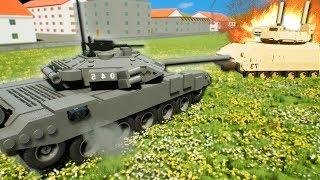 TANK BATTLE BASE CHALLENGE! - Brick Rigs Multiplayer Gameplay - Lego Tank Battle!