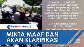 Aksi Penendangan oleh Paspampres Jadi Viral, Pengendara Motor Minta Maaf & Akan Berikan Klarifikasi