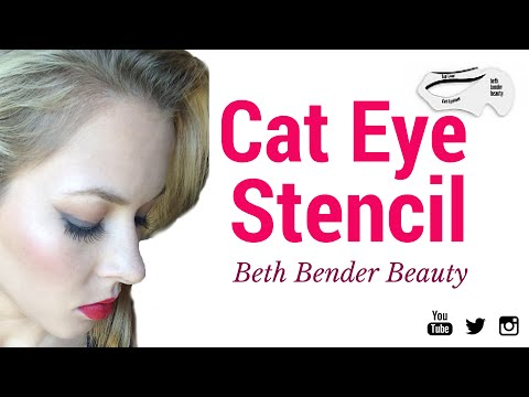 Cat Eye Stencil: Beth Bender Beauty First Impressions/Review