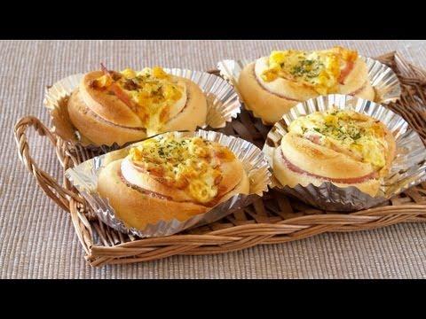 How to Make Ham and Corn Buns (Recipe) ハムコーンパンの作り方 (レシピ)