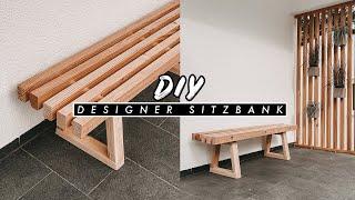 DIY Bank aus Holz selber bauen - einfache und günstige outdoor Sitzbank für Garten und Terrasse