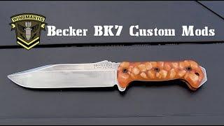 Ka-Bar Becker BK7 Mods - Customizing To Make It Your Own
