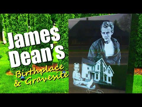 FAMOUS GRAVES: James Dean's Birthplace & Gravesite - Fairmount & Marion, Indiana