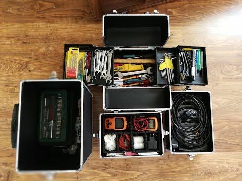 Kosmetik Trolley als Werkzeugaufbewahrung | Multikoffer XXL 4in1 | Aluminium | 4 Rollensystem |