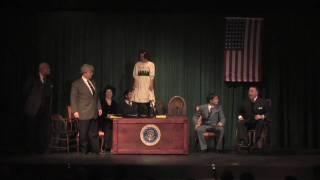 Tomorrow-Cabinet Scene Quinn as Annie