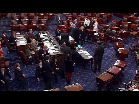 Sen. Tammy Duckworth arrives on Senate floor with newborn baby Maile