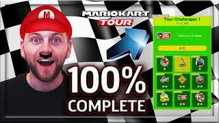 HOW TO TAKE OUT 3 PIPES?!? 100% COMPLETE TOUR CHALLENGES 1🏎️💨 -MARIO KART TOUR