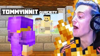 Ninja and TommyInnit HILARIOUS Minecraft trolling! w/ @Quackity & @Tubbo