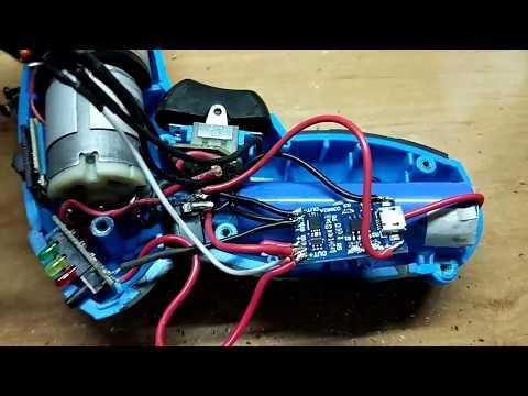 Переделываем аккумуляторную отвёртку на LIi-on18650