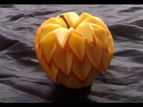 décorer une pomme rouge
