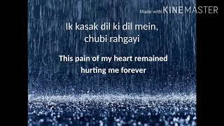 Ek Kasak Dil mein rah gayi OST | with lyrics and   - YouTube