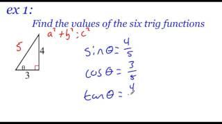 Pre-Calculus 4.3: Right Triangle Trigonometry Part 1