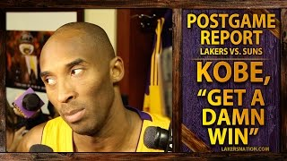 """Lakers Vs. Suns: Kobe Bryant's Message, """"Just Get A Damn Win"""""""