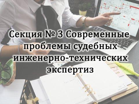 Секция №3 «Современные проблемы судебных инженерно-технических экспертиз» (29 января 2021 г.)