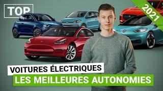 Le TOP des voitures électriques 2021 avec le plus d'autonomie