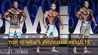 (HIGH QUALITY) TOP 10 Mr Olympia 2017 Mens Physique Results - Full Posing