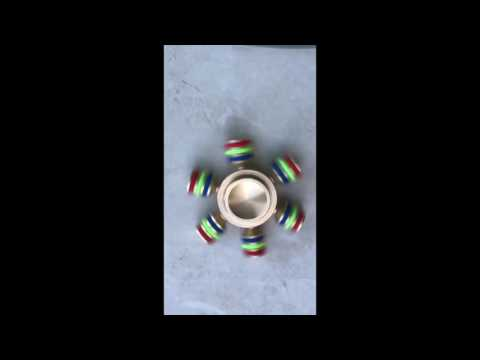 Hand Spinner Laiton 6 branches démontables